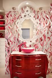 funky bathroom ideas pink bathroom photos hgtv vanity and floral wallpaper loversiq