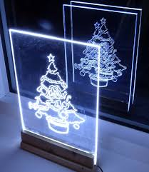 sign decor how to make acrylic led christmas tree edge light sign