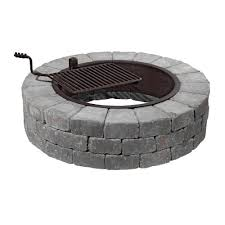 necessories grand 48 in fire pit kit in bluestone with cooking