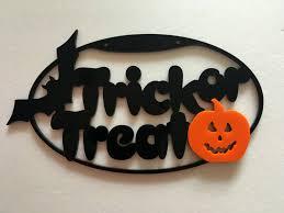happy halloween sign spooky trick or treat halloween decorations