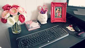 Decorating Ideas For Office Space Room Decor Office Desk Space Tour And Ideas Youtube