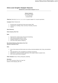 Sample Entry Level Resumes by Graphic Designer Resume Design Graphic Designer Resume Examples