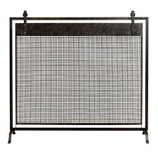 uttermost binti dark brown fireplace screen hayneedle