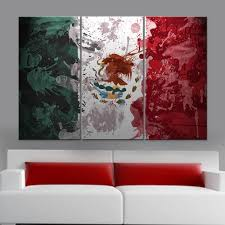Mexixan Flag Vintage Mexico Flag Canvas Set U2013 Canvasist