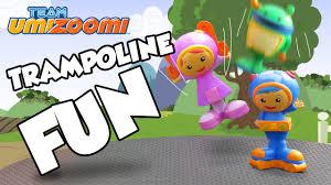 team umizoomi toy parody giant trampoline geo bot