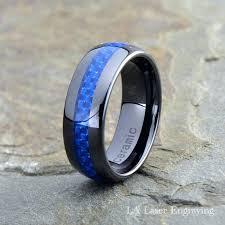 blue titanium wedding band mens blue wedding rings mens blue titanium wedding bands slidescan
