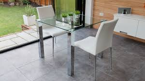 small glass kitchen table stylish small dining set chrome and clear glass modern chairs