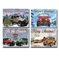 all things jeep jeep ornaments and cards
