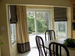 Curtains For Big Sliding Doors Sliding Glass Door Sun Protection Roman Side Windows Patio Door