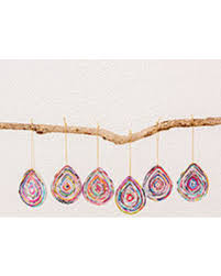 get the deal recycled paper ornaments drops of set of 6