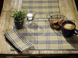 54 inch table runner cottonwood blue plaid 54 inch table runner by olivia s heartland