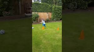 little lad falls over at football training youtube