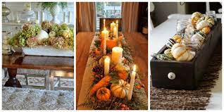 table centerpiece ideas fall dining room table decorating ideas for your interior