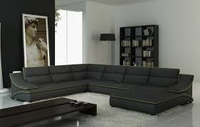 Gray Leather Sectional Sofa by Furniture Furniture Modern Living Room Ideas With Leather