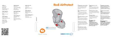 siege auto bebe confort rodi air protect notice bebe confort rodifix airprotect siège auto trouver une