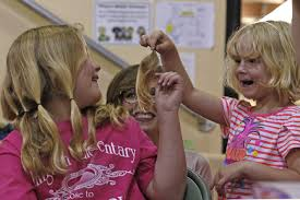 schools host haircut events to help children with hair loss