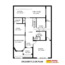 home design for 50 gaj house plan for 35 feet by 50 feet plot plot size 195 square yards