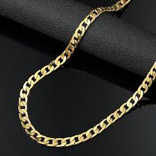 chain necklace mens images Choker chain necklace mens jewelry long gold filled hip hop cuban jpg