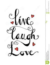 live laugh love card stock vector image 83115934