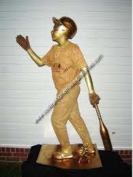 homemade baseball trophy costume halloween pinterest
