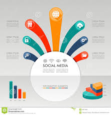 social media infographic template graphic elements illustration