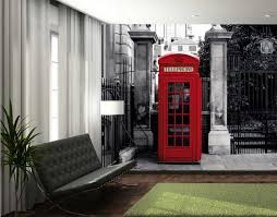 Giant Wall Murals by 1wall Giant Red Telephone Box Wall Mural