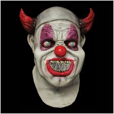 halloween mask clown latex horror black eyed evil clown mask halloween fancy dress