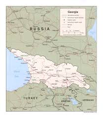 Blank Map Of Georgia by