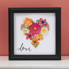 Cricut Home Decor Cartridge Diy Home Decor Paper Flowers Make It From Your Heart