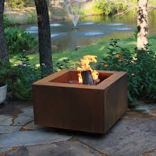 Steel Firepit Ten Steel Pit 30 In Square With Optional Lid