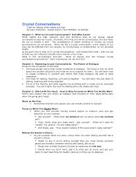 What Is Resume Synopsis Summary Crucial Conversations
