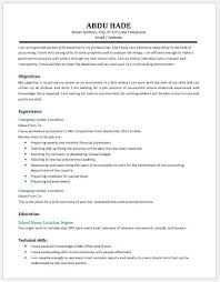 Objective For Accounting Resume Accountant Resume Contents Layouts And Templates Resume Templates