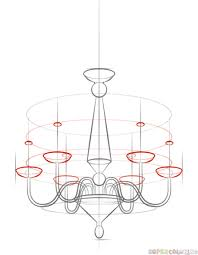 Easy To Draw Chandelier Awesome Chandelier Drawing About Home Decoration Planner With