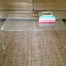 Square Acrylic Coffee Table Furniture Awesome Lucite Coffee Table For Your Living Room Decor