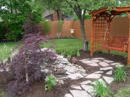 garden inspiring backyard landscape design with awesome nature