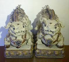 foo dog lion foo dogs ceramic statues guard lions fengshui collectibles