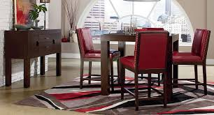 couture elegance counter dining room set w red chairs standard couture elegance counter dining room set w red chairs standard furniture furniture cart