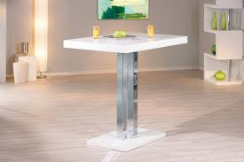table de cuisine design table de bar design laquée blanche palace table haute cuisine