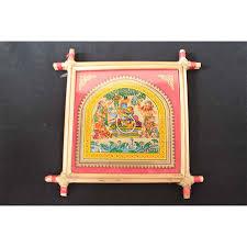 patta chitra screen depicting radha u0026 krishna wall hanging buy