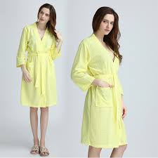 nightgowns for brides aliexpress buy women summer bath robe kimono waffle