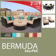 Outdoor Living Patio Furniture Tk Classics Bermuda 14 Piece Outdoor Wicker Patio Furniture