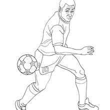 pelé playing soccer coloring pages hellokids com