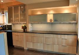 Modren Modern Kitchen Glass Doors Design With Top Shelve And - Modern kitchen cabinets doors