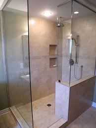 modern bathroom shower tile ideas top mount rain shower head under