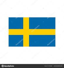 Blue And Yellow Cross Flag Sweden Flag Pixel Art Cartoon Retro Game Style U2014 Stock Vector