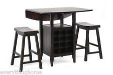 pub table with wine rack pub table dining furniture sets with drop leaf ebay