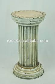 White Pedestal Flower Stand Column Plant Stand Column Plant Stand Suppliers And Manufacturers