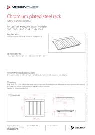 House Specification Sheet by Merrychef Product