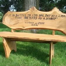 Rustic Outdoor Bench Plans Handmade Custom Engraved Anniversary Bench By Covenant Creations