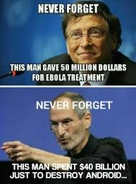 Bill Gates And Steve Jobs Meme - they were very different the meta picture